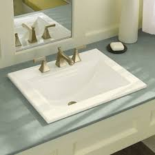 kohler archer series great memoirs ceramic rectangular drop in bathroom sink with overflow