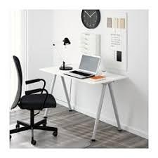 Ikea furniture desks Modern Style Thyge Desk White Silver Color Ikea Thyge Desk Ikea