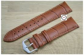 honey brown duke hirsch watch bracelet italian calfskin steel buckle