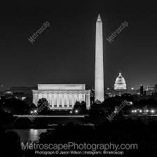 lincoln memorial at night black and white. black and white artwork featuring the washington dc skyline at night lincoln memorial e