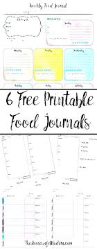 Calorie Diary Template Printable Food Diary Template Blank Journal