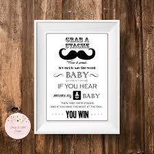 Free Printable Mustache Baby Shower Games