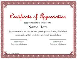 Printable Appreciation Certificates Smelter Safety Appreciation Certificate Format Letters Yakult Co