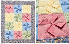 "Folded corners (and other painless piecing tricks) - Stitch This ... & Peekaboo quilt "" Adamdwight.com"