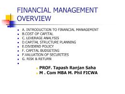 Financial Management Powerpoint Slides