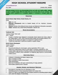 Resume Objective Examples For Students 7 High School Student