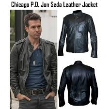 chicago p d tv series jon seda leather jacket