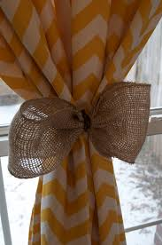 cool yellow chevron curtains patterns and burlap curtain tie backs with clear glass windows white wooden