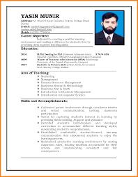 Model Of Resume For Job 24 Model Resume For Job Edu Techation 4