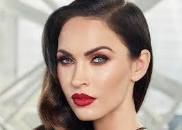 best celebrity red lipstick makeup looks megan fox
