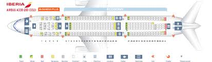 Seat Map Airbus A330 200 Iberia Best Seats In The Plane