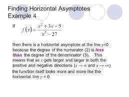 finding horizontal asymptotes example 4