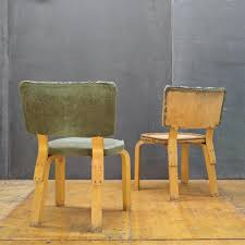 pair of alvar aalto rare model 62 bentwood dining chairs vintage art deco mid
