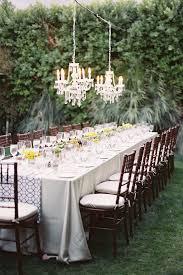 outdoor glam garden wedding long table reception michael radford photography