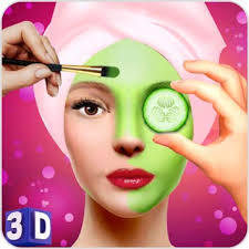 face makeup beauty spa salon makeover games 3d face spa mask apply spa