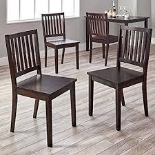 Image Neriamphu Image Unavailable Amazoncom Amazoncom Slat Back Shakerstyle Design Dining Chairs Set Of