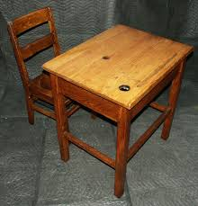 antique oak school desk