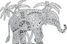 Elephant Mandala Coloring Pages A Cat Animal Cute On Design Ideas