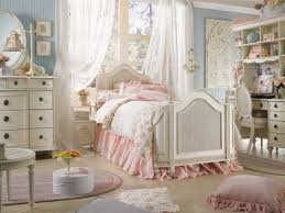 Epic Picture Of Girl Shabby Chic Bedroom Decoration Using Ruffle Light Pink  Bed Valance Including Light Blue Girl Room Wall Paint And Curve Vintage  White ...