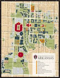 campus map  university of arkansas online visitor's guide