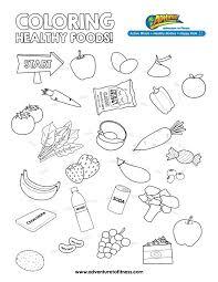 Coloring Pages Healthy Foods Glandigoartcom
