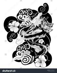 Black White Japanese Dragon Wallpaper ...