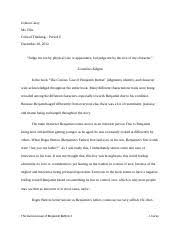 benjamin button essay the curious case of benjamin button f  3 pages benjamin button final paper
