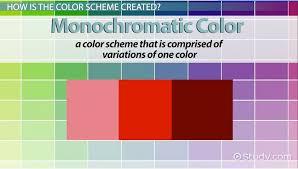 Monochromatic Color: Definition, Schemes & Examples - Video & Lesson  Transcript | Study.