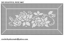 Filet Crochet Patterns Cool Beautiful Rose Mat Doily Filet Crochet Pattern Item 48