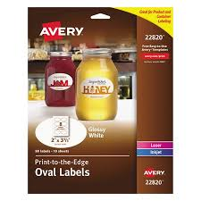 Package Label Template Enchanting AveryR PrinttotheEdge Glossy Oval Labels True PrintTM 48