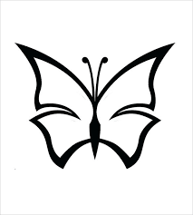 Simple Butterfly Outline Simple Dark Butterfly Template Simple