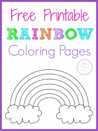 kindergarten coloring pages free free printable rainbow coloring pages large medium and small rainbow patterns to