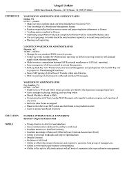 Warehouse Administrator Resume Samples Velvet Jobs