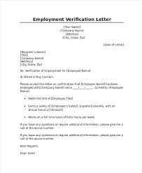 Employment Certification Letter Template Employment