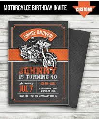 Harley Davidson Party Decorations Motorcycle Biker Birthday Invitation Vintage Motorcycle