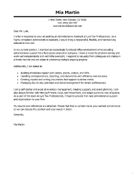 Cover Letter Administrative Assistant Gallery Studiootb