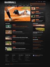 Baseball Design Templates Website Template 37872 Baseball Portal Sport Custom Website