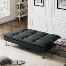 new futon adjule dark grey fabric