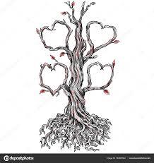 Twisted Dubu Srdce Větev Tetování Stock Fotografie Patrimonio