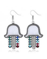 6 colors available vine style hands pendant bohemian fashion earrings