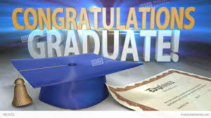 congratulations to graduate congratulations graduate animated title stock animation 1862852