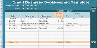 Small Business Bookkeeping Template Small Business