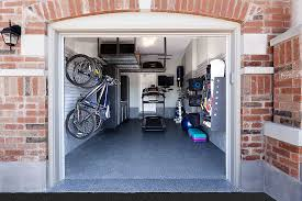 Fitness room garage after renovation.