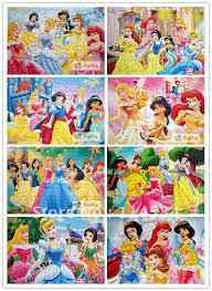 Children Education Cartoons Andersens Fairy Tales Cartoon Paper Puzzle 8 Pieces Set Princes