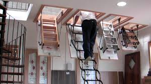 Folding Staircase Murphy Larkin Attic Stairs Attic Ladders Youtube