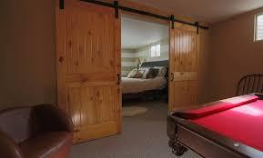 sliding barn doors interior. Cozy Basement Sliding Barn Door Doors Interior