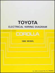 1989 toyota corolla wiring diagram manual original