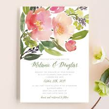 Wedding Invitations Watercolor Watercolor Wedding Invitations Minted