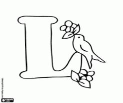 Kleurplaat Letter L En Een Vogel Met Vruchten Kleurplaten