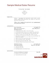 Resume Templates Ideas Of Sample For Medical Representative Sales Is